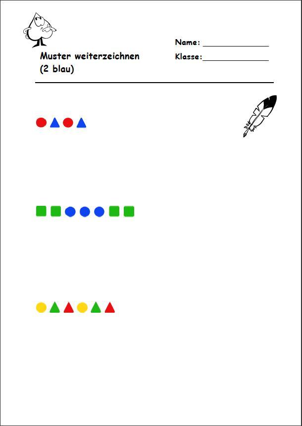 Arbeitsblatt Licht Und Farben : Muster zeichnen grundschule arbeitsblatt konzept f r
