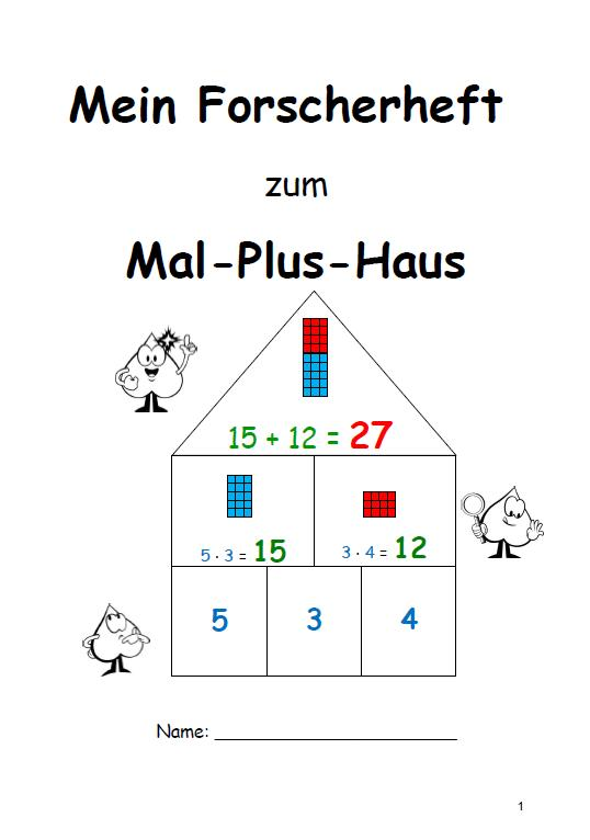 "Forscherheft ""Mal-Plus-Haus"" 
