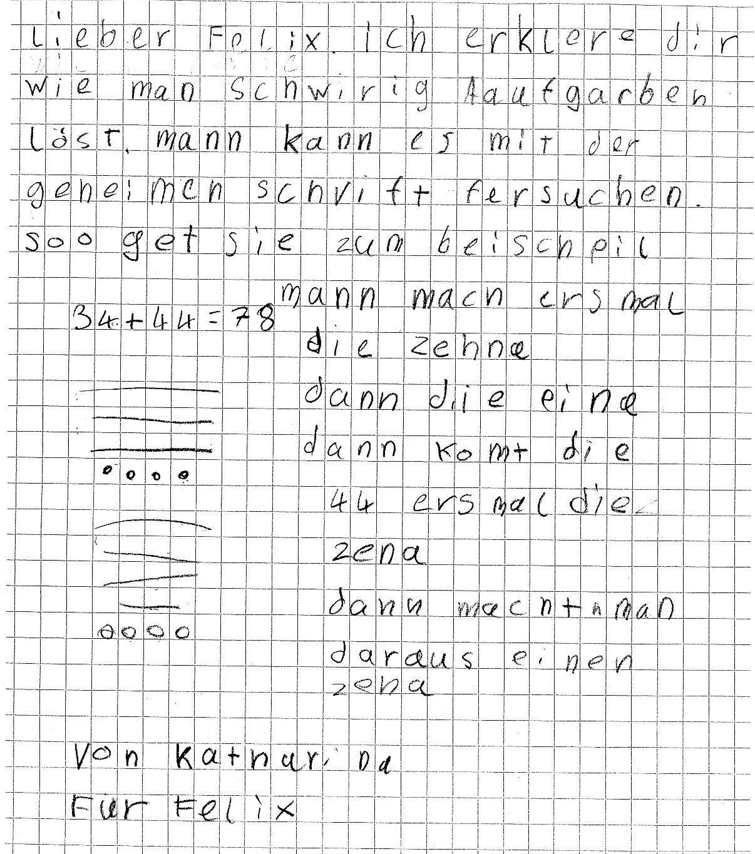 Leistungen Wahrnehmen Beispiele Für Mathebriefe Pikas