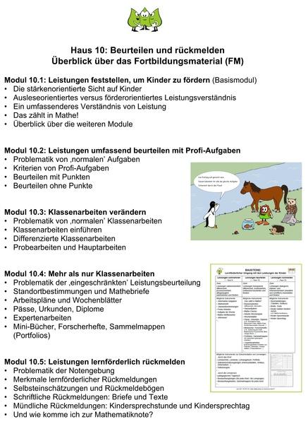 Modul 10.1: Leistungen feststellen, um Kinder zu fördern (Basismodul ...