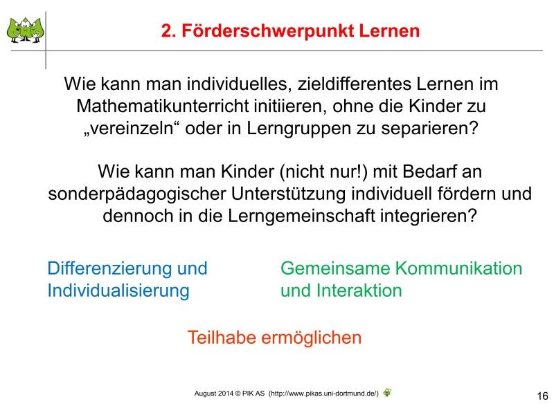 Modul 6.5: Zieldifferent lernen im gemeinsamen Mathematikunterricht ...