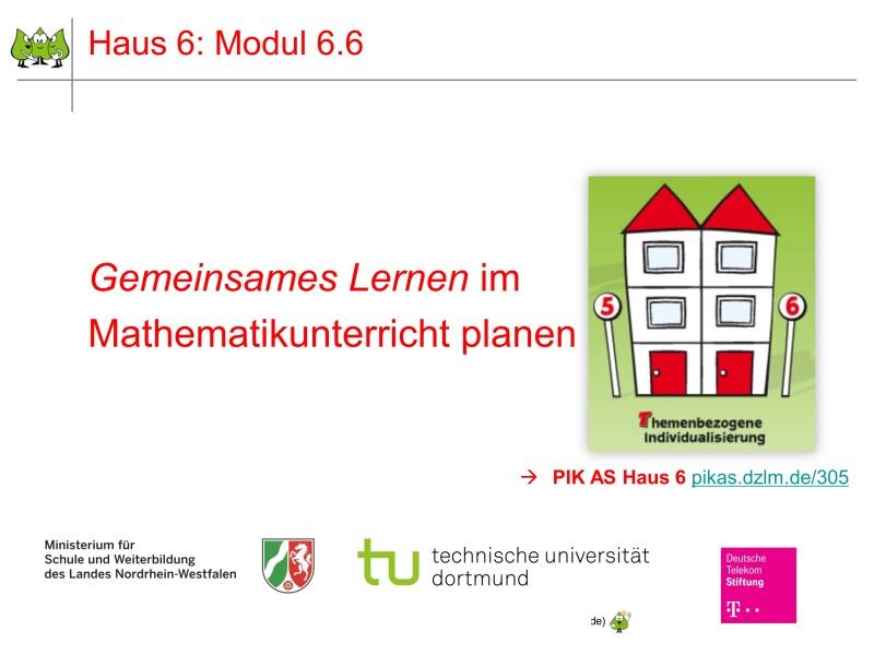 Modul 6.6: Gemeinsames Lernen im Mathematikunterricht planen   PIKAS