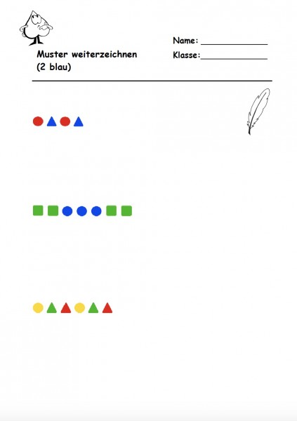 Folgen mit Farben und Formen\