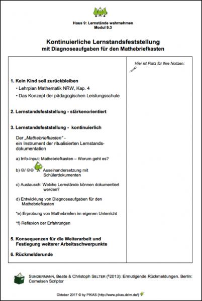 Modul 9.3: Kontinuierliche Lernstandsfeststellung mit ...